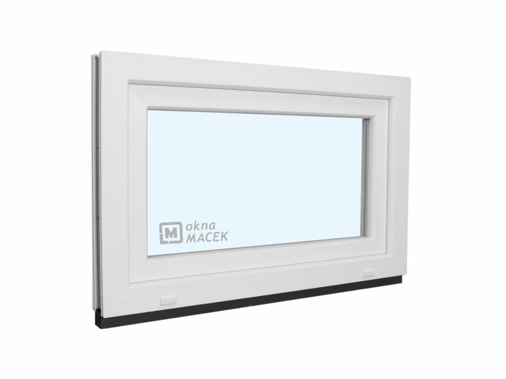 Plastové okno - KNIPPING 70 AD, 900x600 mm, S (sklopné), bílá/bílá Sklo: čiré