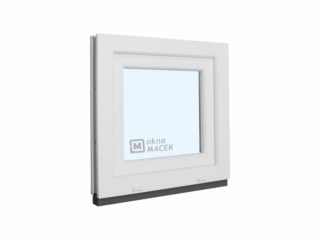 Plastové okno - KNIPPING 70 AD, 600x600 mm, OS, bílá/bílá Otevírání: levé, Sklo: čiré