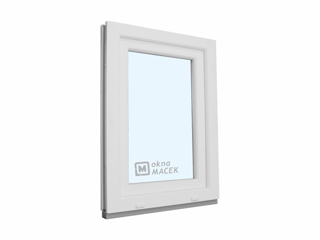 Plastové okno - KNIPPING 70 AD, 600x900 mm, OS, bílá/bílá Otevírání: levé, Sklo: čiré