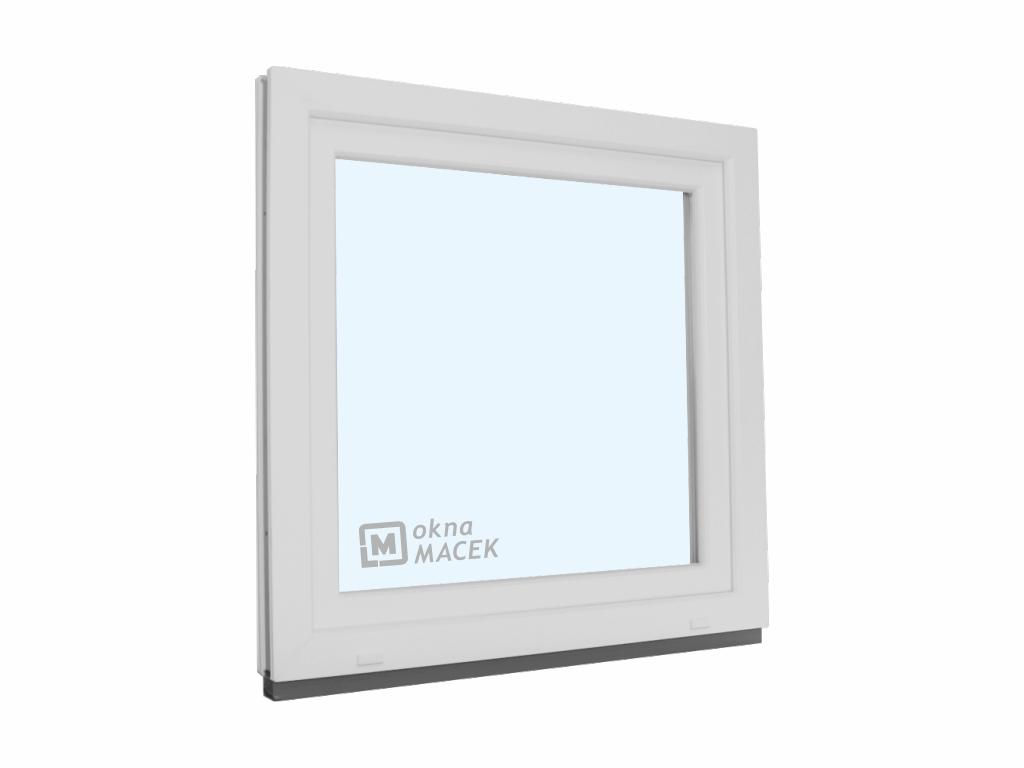 Plastové okno - KNIPPING 70 AD, 900x900 mm, OS, bílá/bílá Otevírání: levé, Sklo: čiré