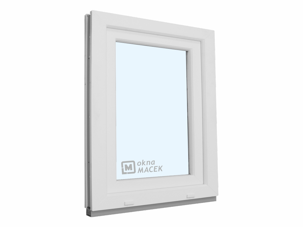 Plastové okno - KNIPPING 70 AD, 900x1200 mm, OS, bílá/bílá Otevírání: levé, Sklo: čiré