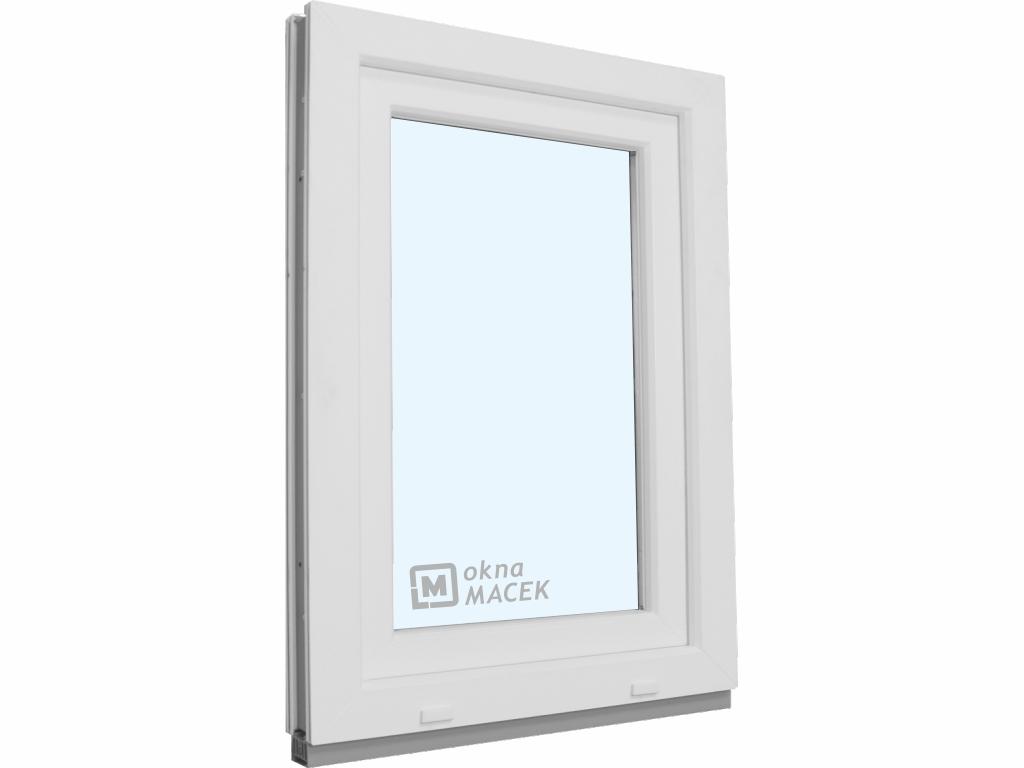 Plastové okno - KNIPPING 70 AD, 900x1500 mm, OS, bílá/bílá Otevírání: levé, Sklo: čiré
