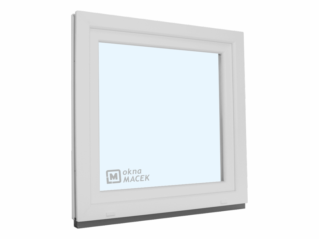 Plastové okno - KNIPPING 70 AD, 1200x1200 mm, OS, bílá/bílá Otevírání: levé, Sklo: čiré