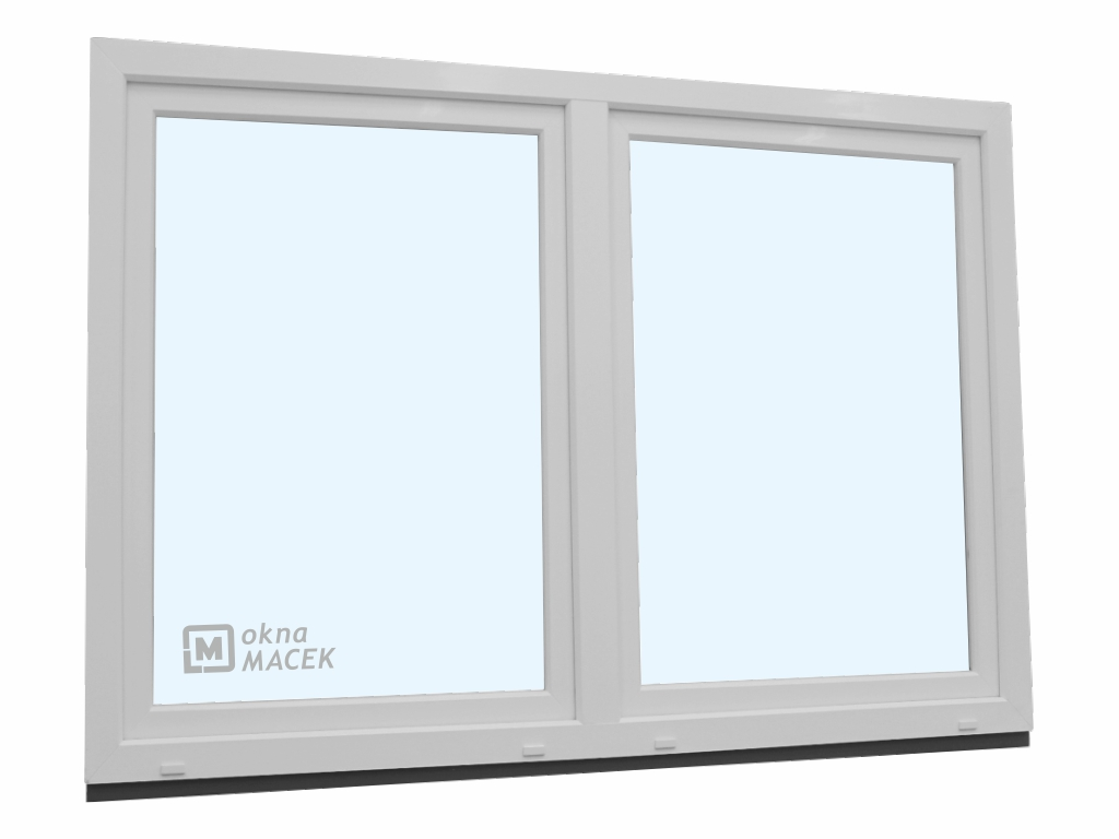Plastové okno - KNIPPING 70 AD, 1800x1200 mm, O/OS sloupek, bílá/bílá