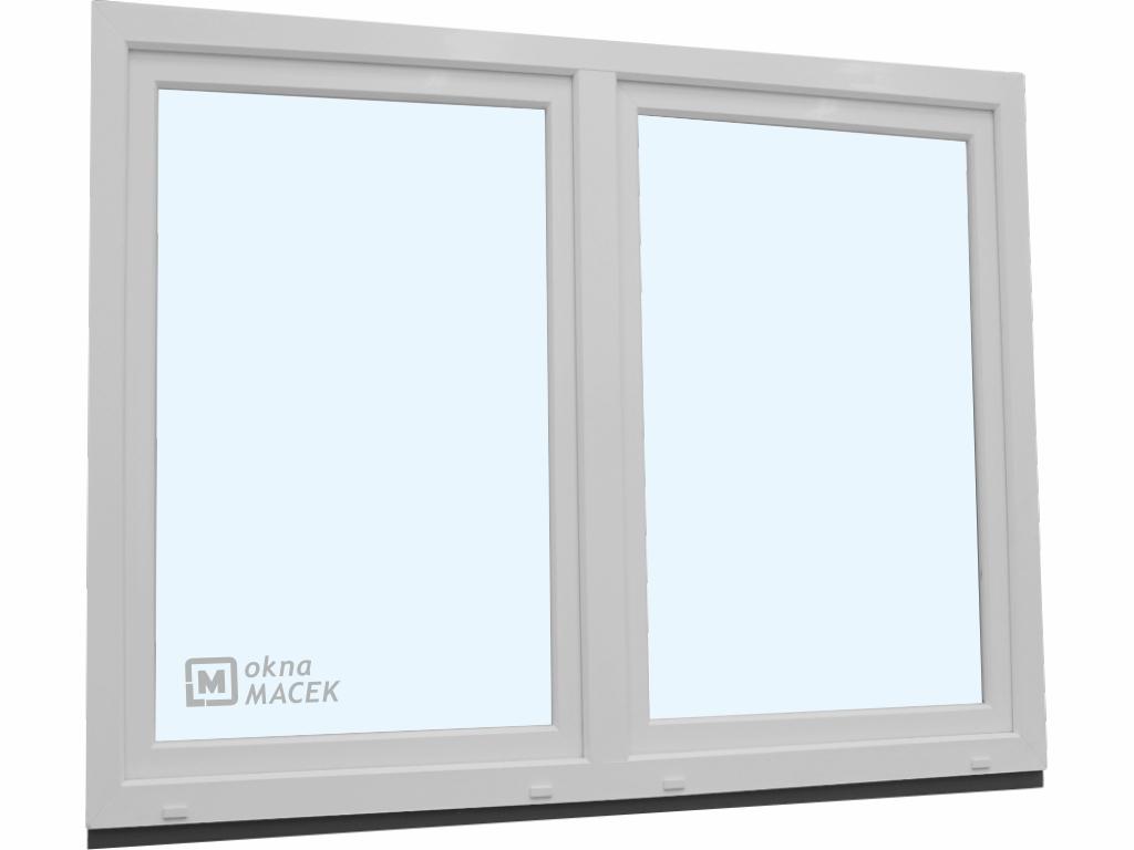 Plastové okno - KNIPPING 70 AD, 1800x1500 mm, O/OS sloupek, bílá/bílá