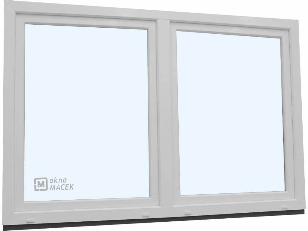 Plastové okno - KNIPPING 70 AD, 2400x1500 mm, O/OS sloupek, bílá/bílá
