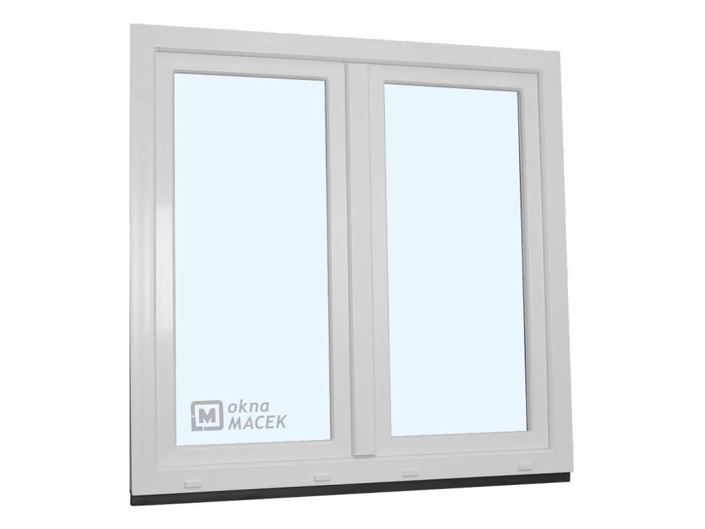 Plastové okno - KNIPPING 70 AD, 1200x1200 mm, O+OS klapačka, bílá/bílá
