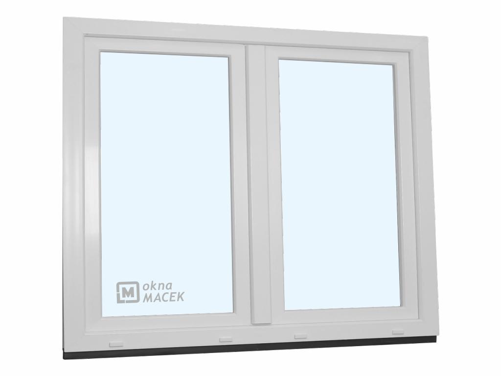 Plastové okno - KNIPPING 70 AD, 1500x1200 mm, O+OS klapačka, bílá/bílá