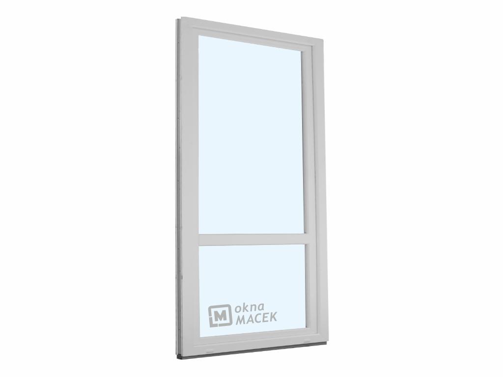 Plastové balkonové dveře - KNIPPING 70 AD, 900x2200 mm, OS, s příčkou, bílá/bílá Otevírání: pravé
