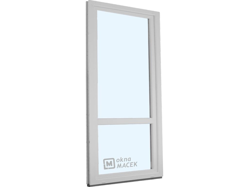 Plastové balkonové dveře - KNIPPING 70 AD, 900x2400 mm, OS, s příčkou, bílá/bílá Otevírání: pravé
