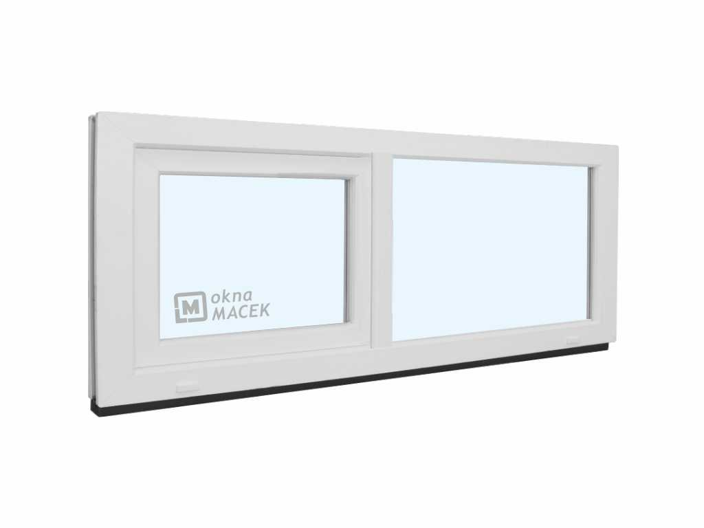 Plastové okno - KNIPPING 70 AD, 1500x500 mm, FIX/S, bílá Sklo: čiré