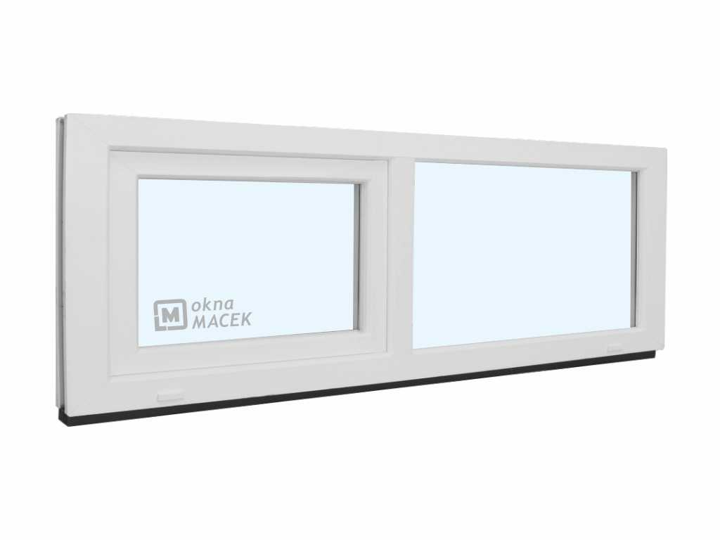 Plastové okno - KNIPPING 70 AD, 1800x500 mm, FIX/S, bílá Sklo: čiré