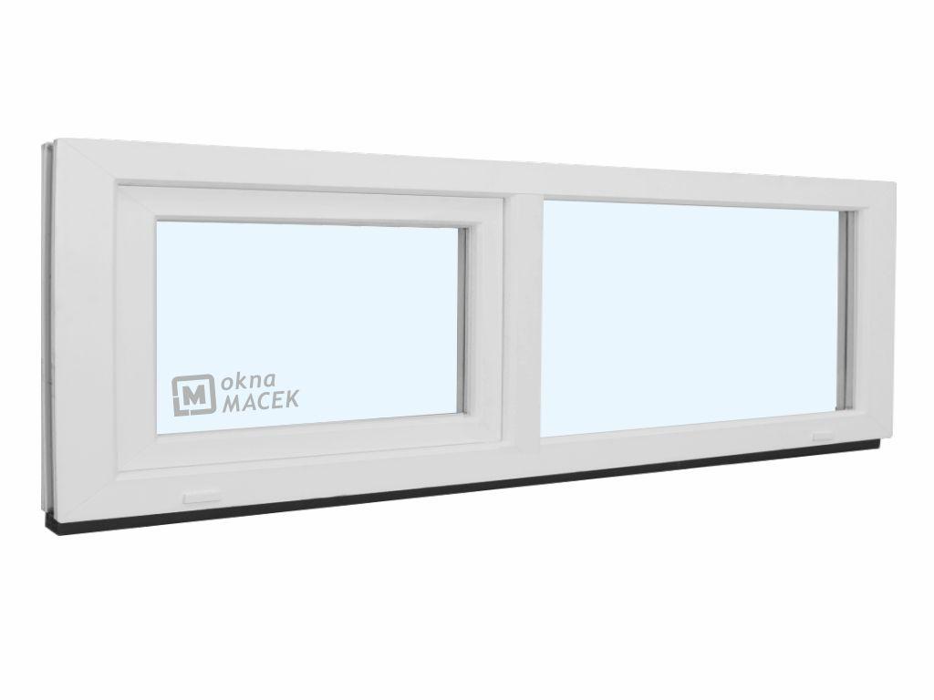 Plastové okno - KNIPPING 70 AD, 2100x500 mm, FIX/S, bílá Sklo: čiré
