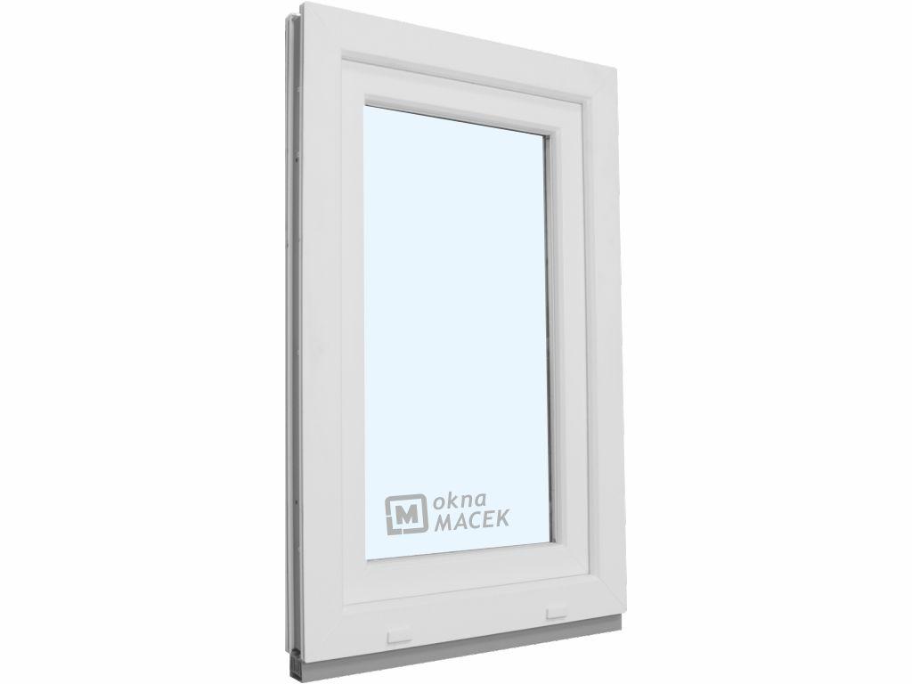 Plastové okno - KNIPPING 70 AD, 600x1500 mm, OS, bílá Otevírání: levé, Sklo: čiré