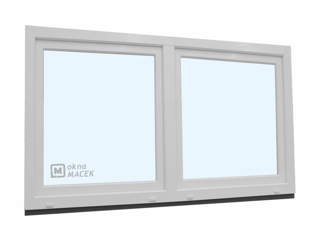 Plastové okno - KNIPPING 70 AD, 1800x900 mm, O/OS sloupek, bílá Sklo: čiré