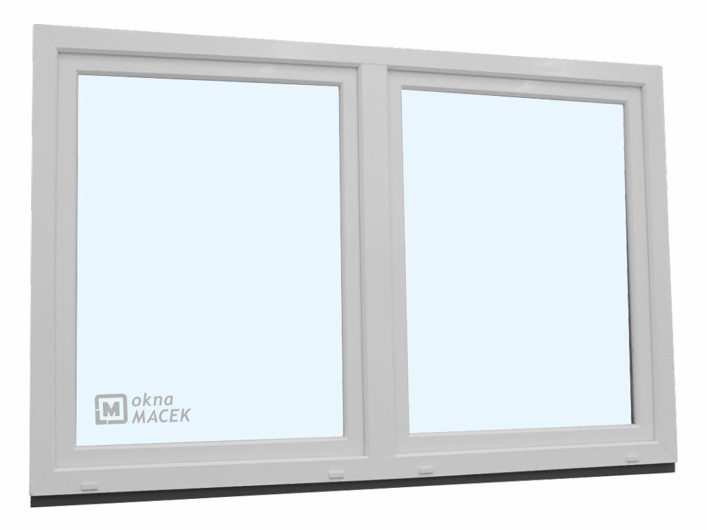Plastové okno - KNIPPING 70 AD, 2100x1200 mm, O/OS sloupek, bílá
