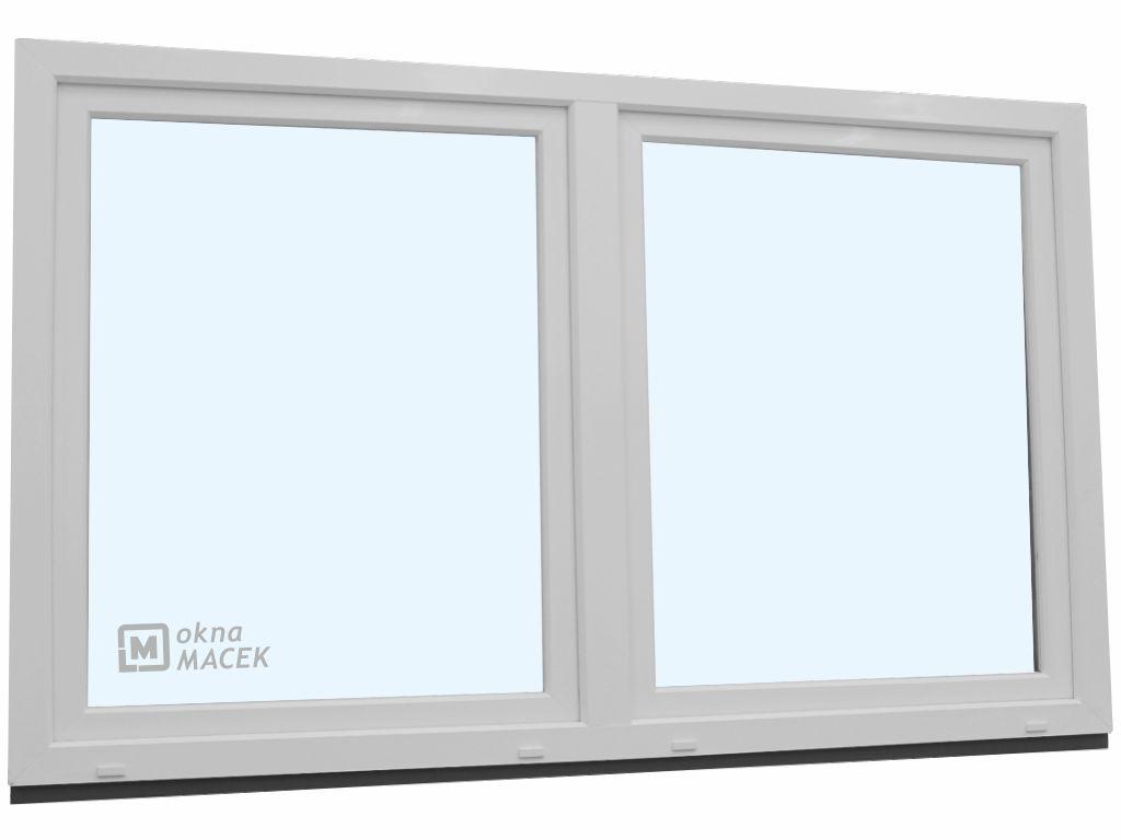 Plastové okno - KNIPPING 70 AD, 2400x1200 mm, O/OS sloupek, bílá