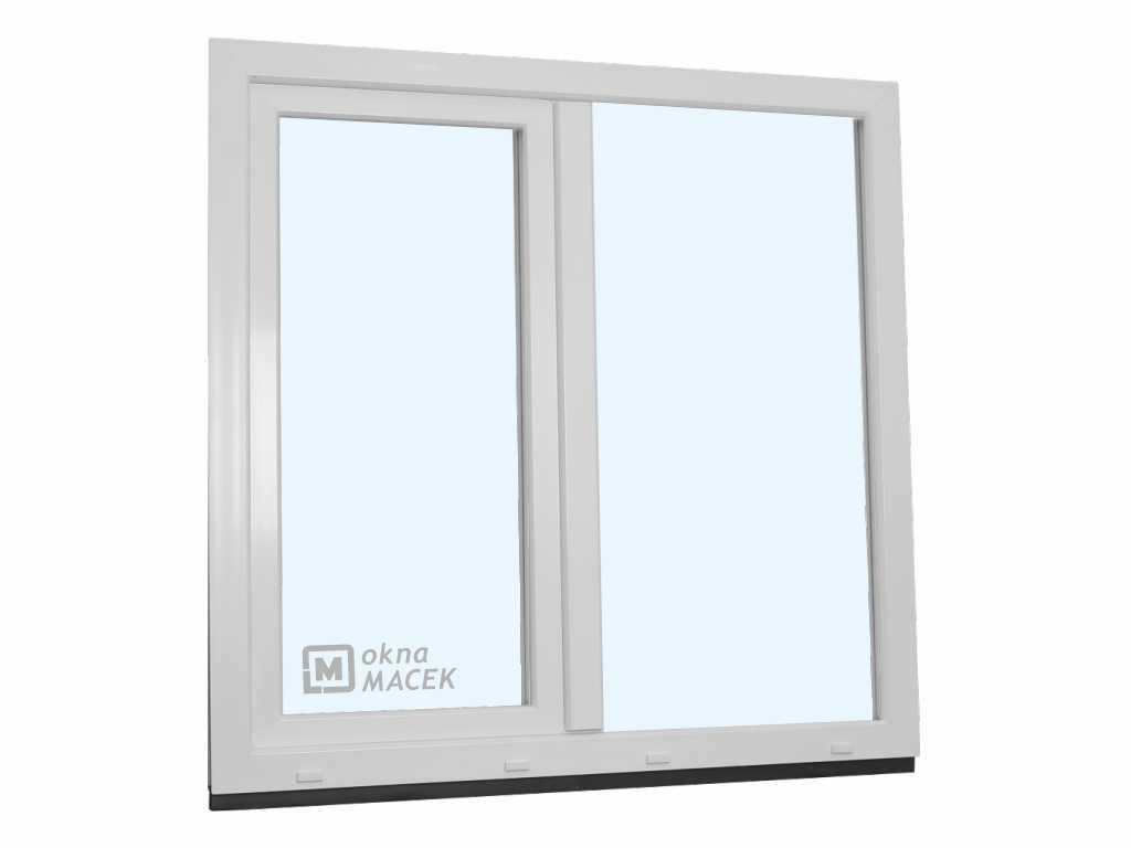 Plastové okno - KNIPPING 70 AD, 1200x1200 mm, FIX/OS, bílá