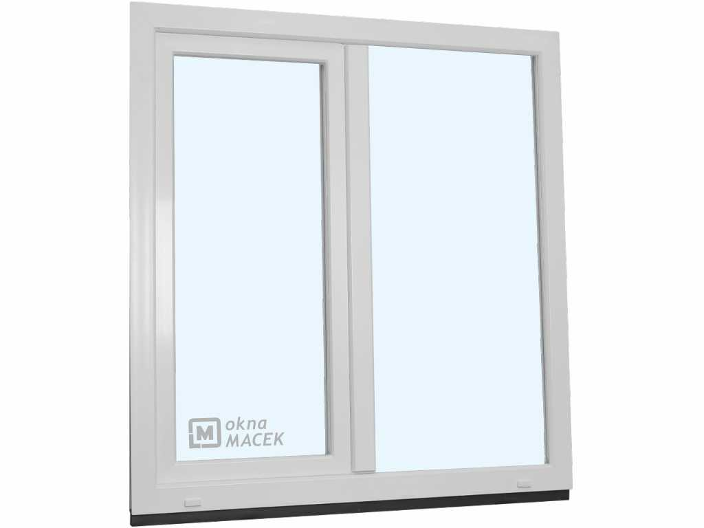 Plastové okno - KNIPPING 70 AD, 1200x1500 mm, FIX/OS, bílá