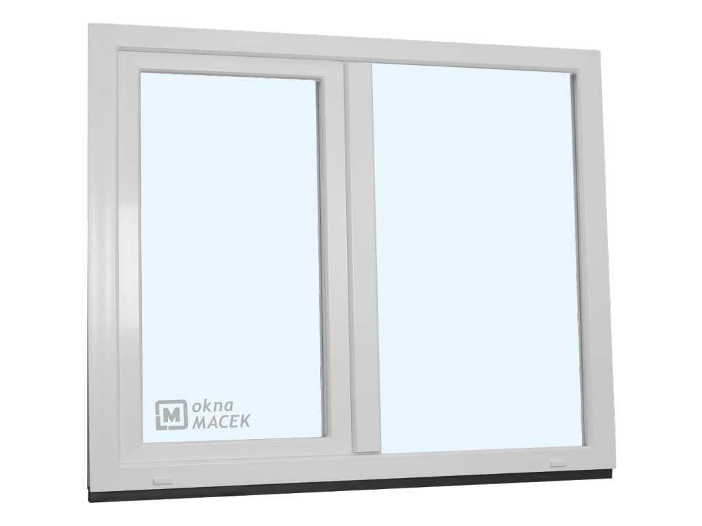 Plastové okno - KNIPPING 70 AD, 1500x1200 mm, FIX/OS, bílá