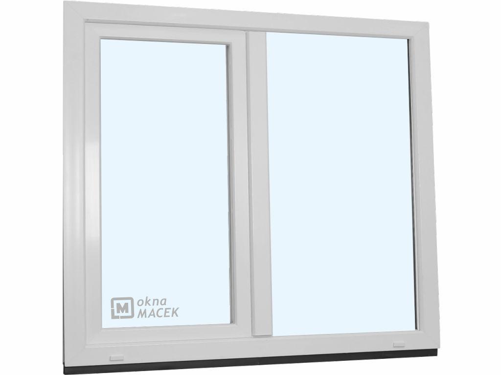 Plastové okno - KNIPPING 70 AD, 1500x1500 mm, FIX/OS, bílá