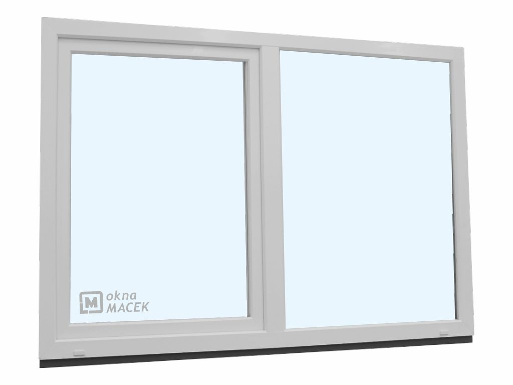 Plastové okno - KNIPPING 70 AD, 1800x1200 mm, FIX/OS, bílá