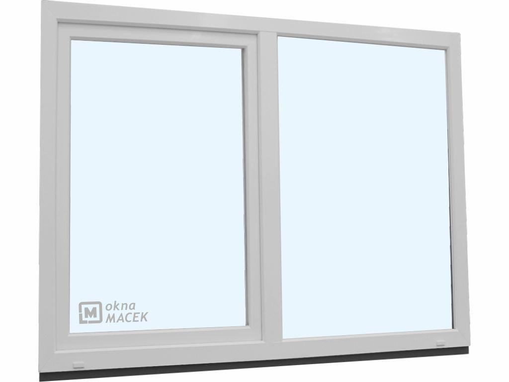 Plastové okno - KNIPPING 70 AD, 1800x1500 mm, FIX/OS, bílá
