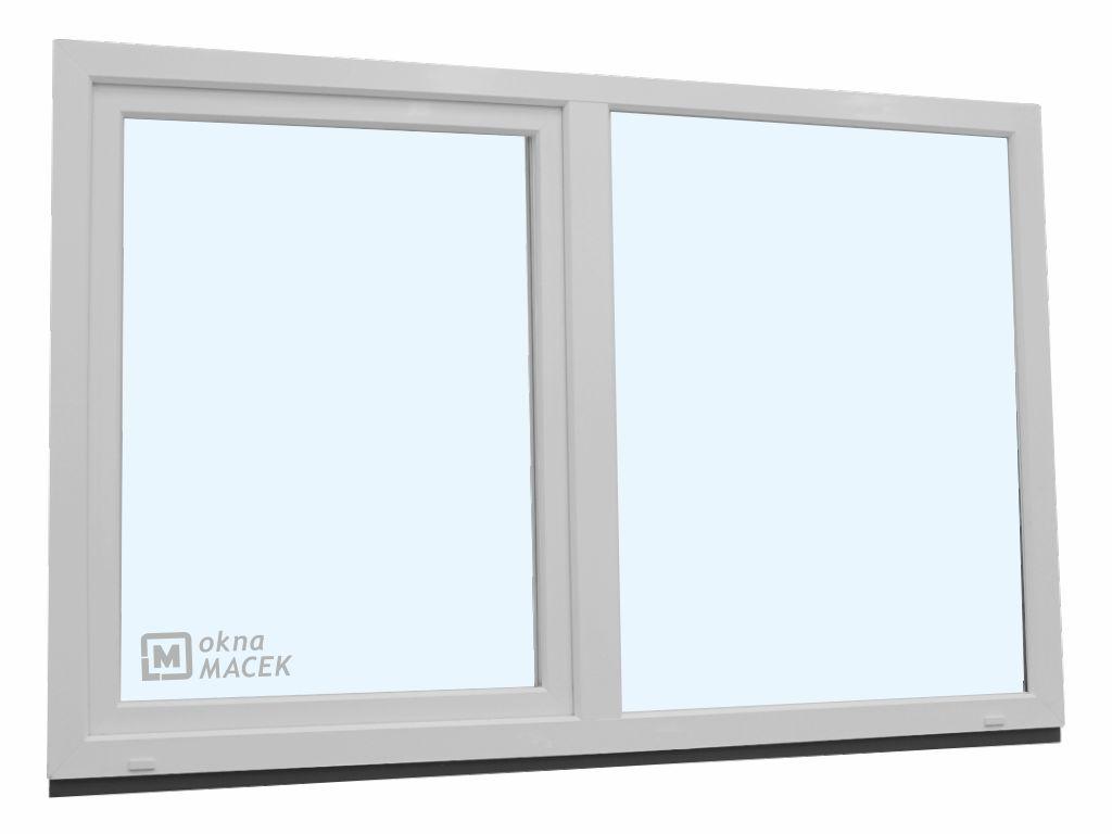 Plastové okno - KNIPPING 70 AD, 2100x1200 mm, FIX/OS, bílá
