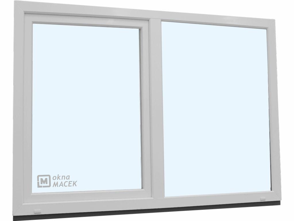 Plastové okno - KNIPPING 70 AD, 2100x1500 mm, FIX/OS, bílá