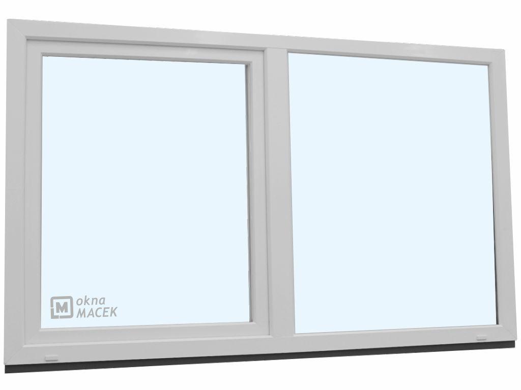 Plastové okno - KNIPPING 70 AD, 2400x1200 mm, FIX/OS, bílá