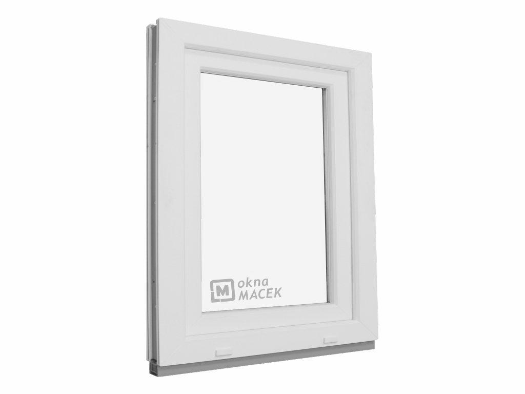 Plastové okno OLIMPIA 60 AD, 900x1200 mm, OS, bílá Otevírání: levé (OSl)