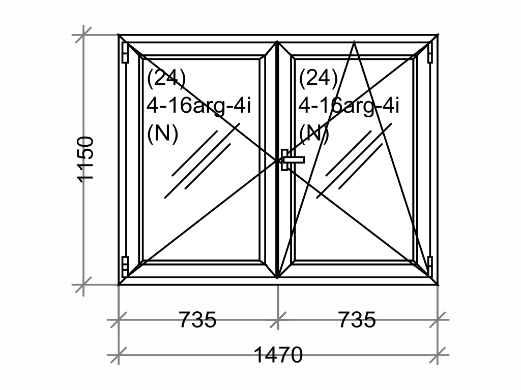 Plastové okno OLIMPIA 60 AD, 1500x1200 mm, O+OS klapačka, bílá