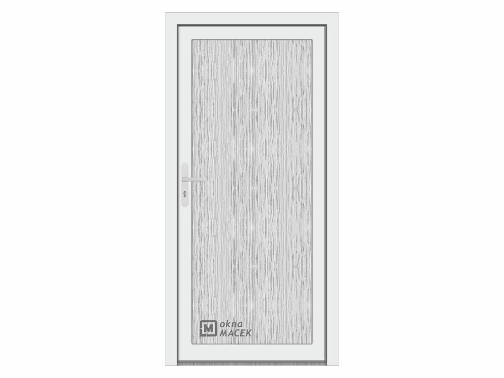 Plastové vchodové dveře - WDS 70 AD, prosklené, bílá/bílá Otevírání: pravé, Šířka průchodu: 800 mm,