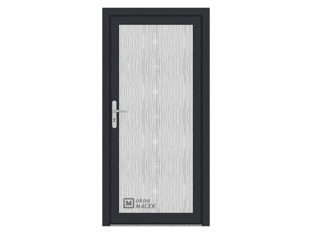 Plastové vchodové dveře - WDS 70 AD, prosklené, antracit/bílá Otevírání: pravé, Šířka průchodu: 800