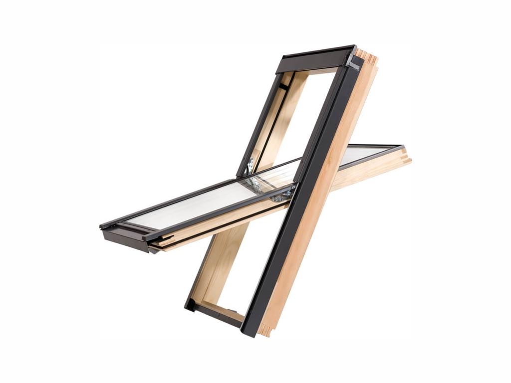 Dřevěné střešní okno - ROOFLITE Solid Pine, M6A, 78x118 cm, dvojsklo