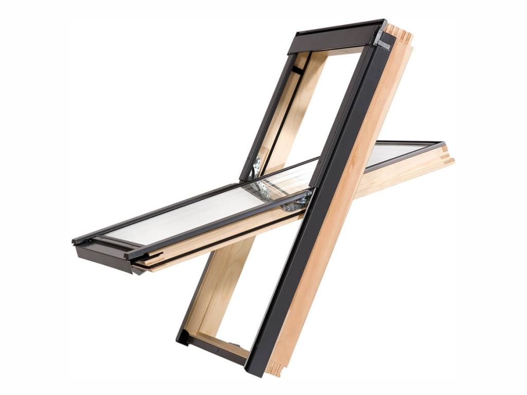 Dřevěné střešní okno - ROOFLITE Solid Pine, M8A, 78x140 cm, dvojsklo