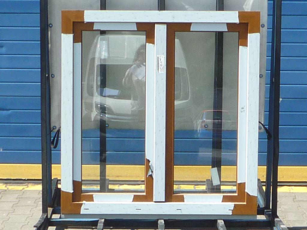 KBE Plastové okno - 1200x1500 mm, otevíravé/sklopné (OS), zlatý dub/bílá Otevírání: pravé (OSp)