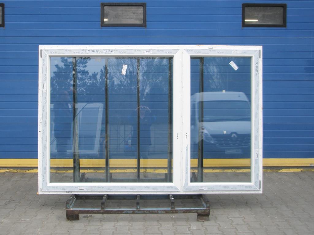KBE Plastové okno - 2400x1500 mm, otevíravé/sklopné (OS+O/OS), bílá/bílá