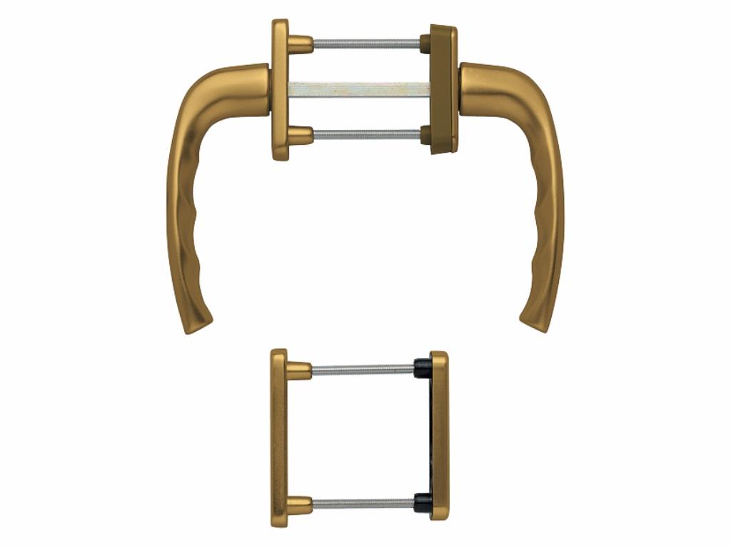 Oboustranné balkonové kliky - HOPPE Atlanta, standardní Barva: bronzová