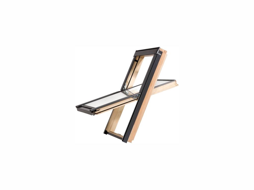 Dřevěné střešní okno - ROOFLITE Trio Pine, C2A, 55x78 cm, trojsklo