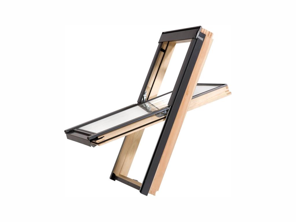 Dřevěné střešní okno - ROOFLITE Trio Pine, F6A, 66x118 cm, trojsklo