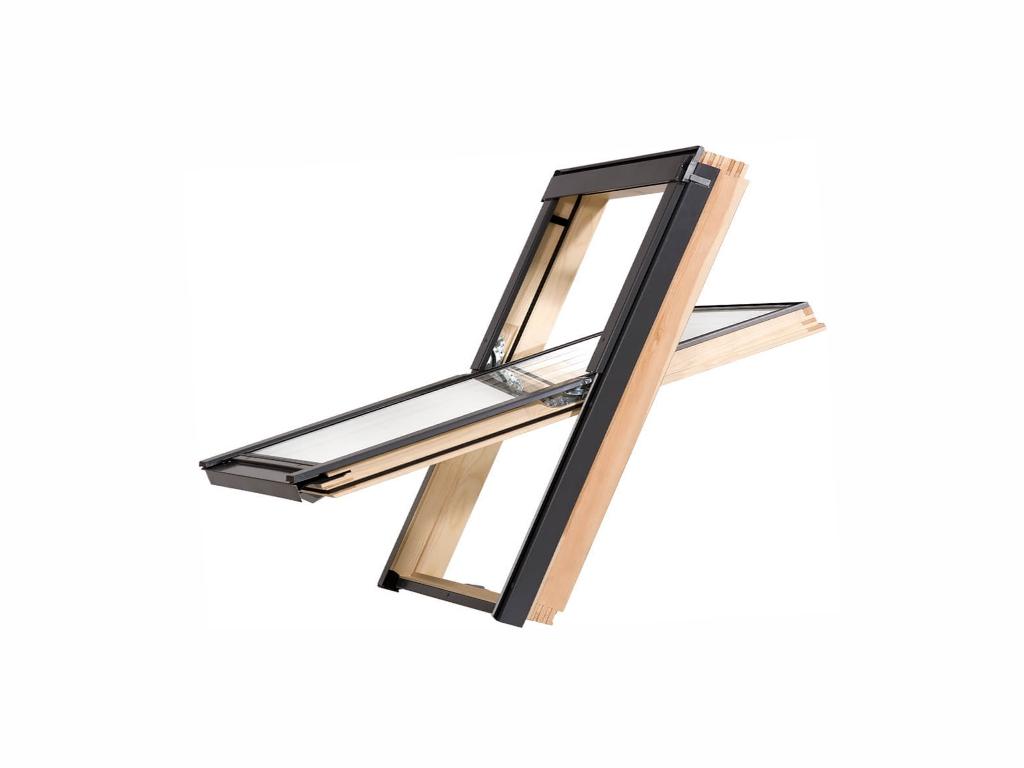 Dřevěné střešní okno - ROOFLITE Trio Pine, M4A, 78x98 cm, trojsklo