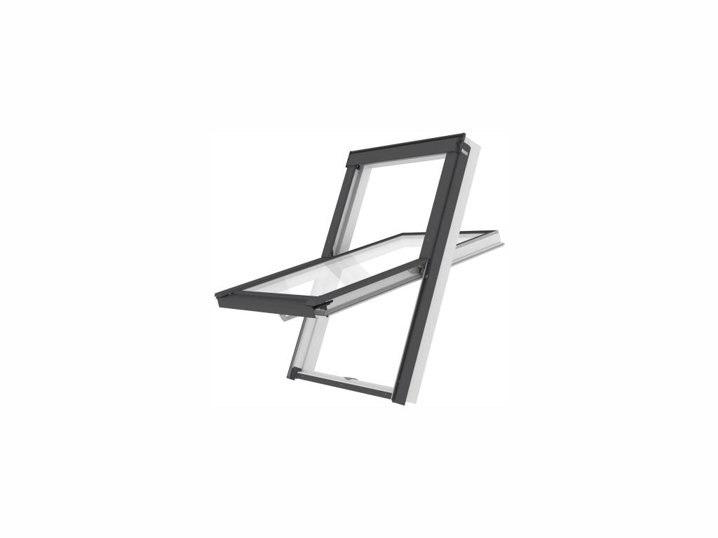 Plastové střešní okno - ROOFLITE Solid PVC, C2A, 55x78 cm, dvojsklo