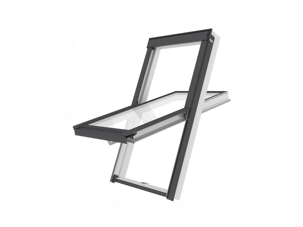 Plastové střešní okno - ROOFLITE Solid PVC, F6A, 66x118 cm, dvojsklo