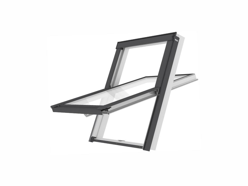 Plastové střešní okno - ROOFLITE Solid PVC, M4A, 78x98 cm, dvojsklo