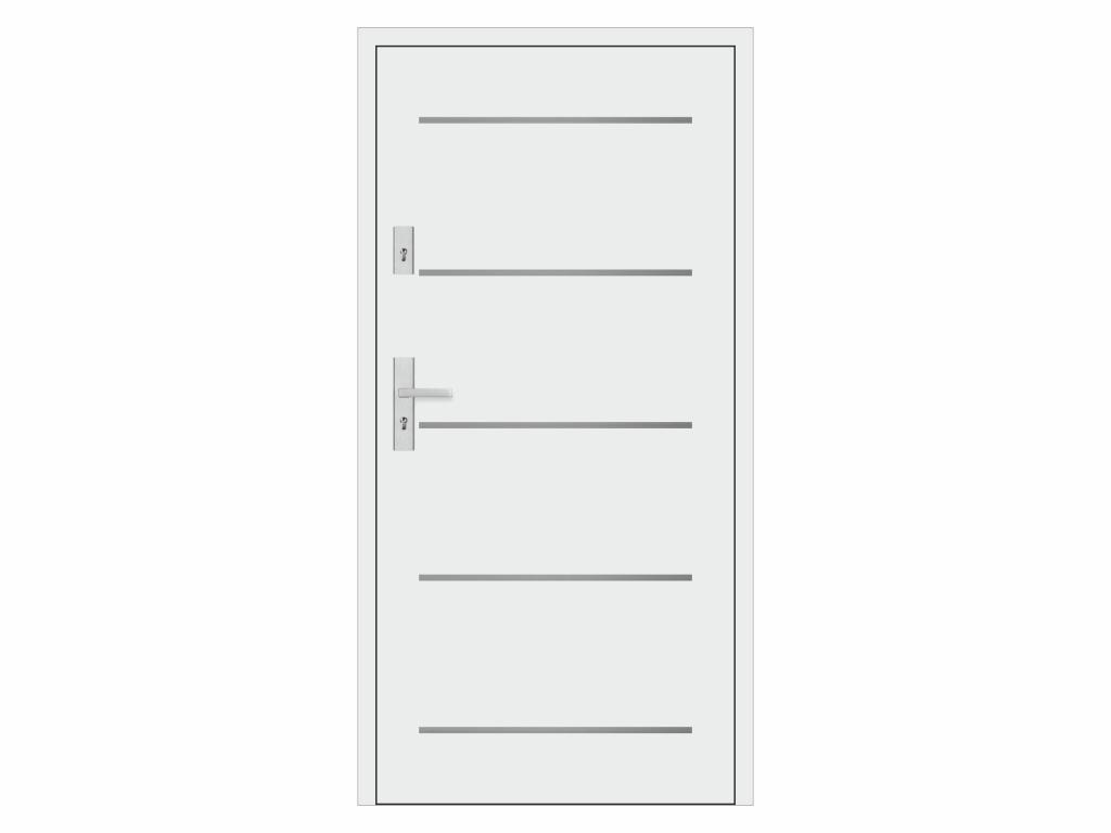 Ocelové vchodové dveře - STALPRODUKT A9, bílá Otevírání: levé, Šířka průchodu: 800 mm