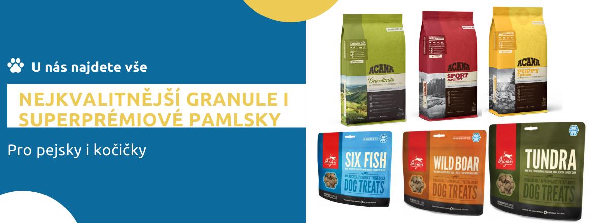 Nejkvalitnější granule a pamlsky