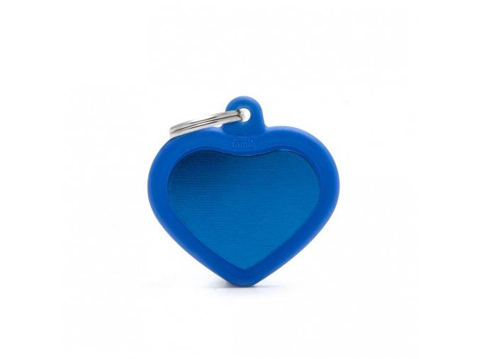 HEART ALU BLUE RUBBER