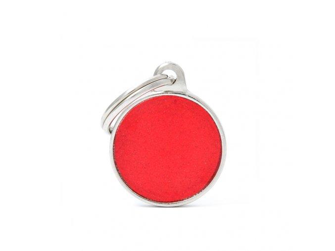 SMALL CIRCLE REFLECTIVE RED
