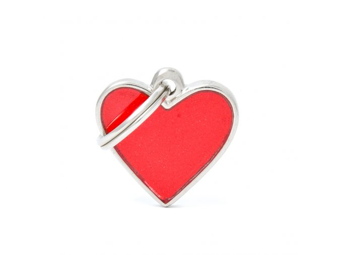 SMALL HEART REFLECTIVE RED